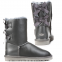 Угги UGG Bailey Bow Leather Grey