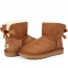 Угги UGG Bailey Bow Mini Chestnut