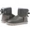 Угги UGG Bailey Bow Mini Leather Grey