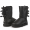 Угги UGG Bailey Bow Leather Black