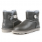 Угги UGG Mini Baliley Bling Leather Grey