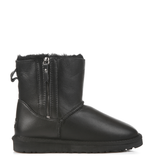 Угги UGG Australia Dubble Zip Leather Black купить в Киеве