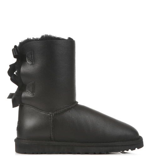 Угги UGG Australia Bailey Bow Leather Black купить в Киеве