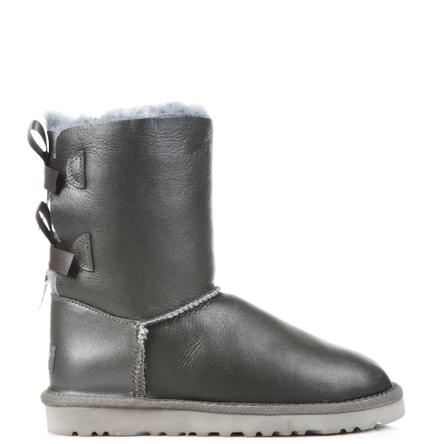 Угги UGG Australia Bailey Bow Leather Grey купить в Киеве