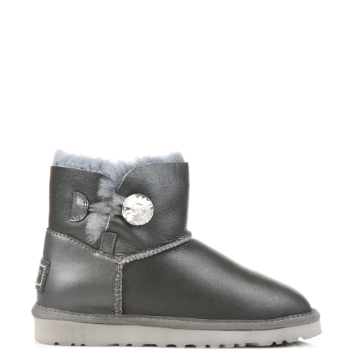 Угги UGG Australia Bailey Bling Mini Leather Grey купить в Киеве