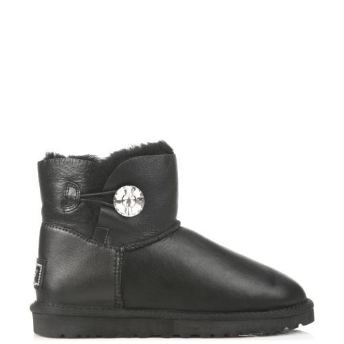 Угги UGG Australia Bailey Bling Mini Leather Black купить в Киеве