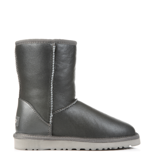 Угги UGG Australia Classic Short Leather Grey купить в Киеве