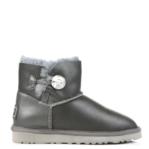 Угги UGG Australia Mini Baliley Bling Leather Grey купить в Киеве