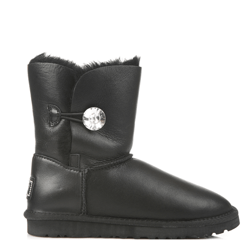 Угги UGG Australia Bailey Button Bling Leather Black купить в Киеве