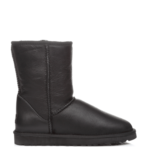Угги UGG Australia Men Classic Short Leather Black купить в Киеве