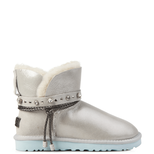 Угги UGG Australia Swarowski Strap Mini Leather White купить в Киеве