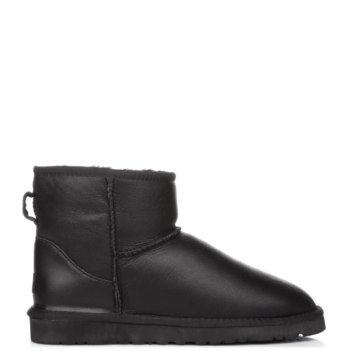 Угги UGG Australia Classic Mini Leather Black купить в Киеве