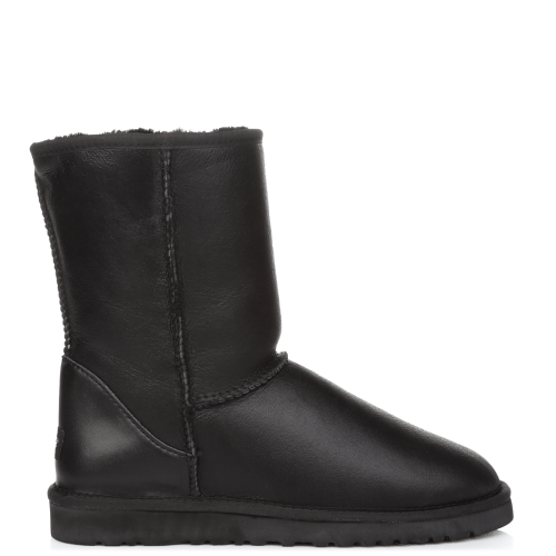 Угги UGG Australia Classic Short Leather Black купить в Киеве