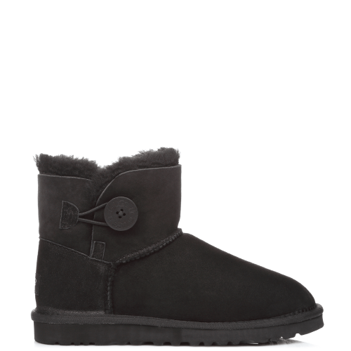 Угги UGG Australia Bailey Button Mini Black купить в Киеве