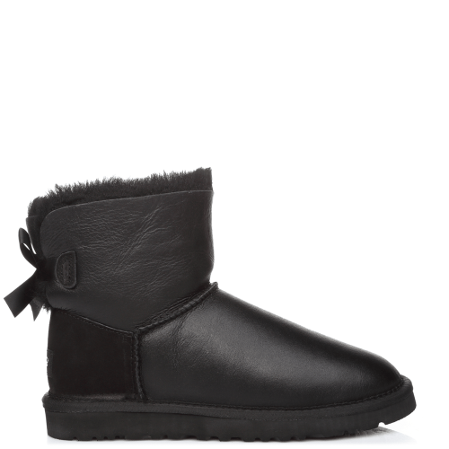 Угги UGG Australia Bailey Bow Mini Leather Black купить в Киеве