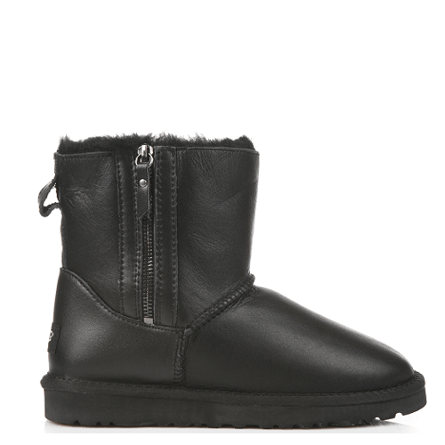 Угги UGG Australia Mini Zip Leather Black купить в Киеве