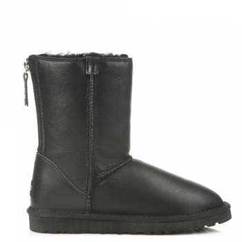 Угги UGG Classic Zip Leather Black