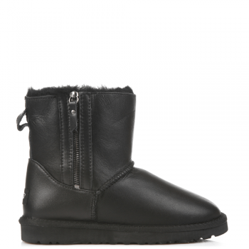 Угги UGG Dubble Zip Leather Black