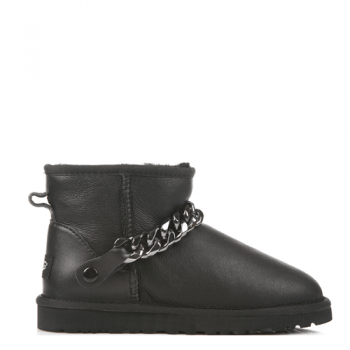 Угги UGG Mini Chain Leather Black