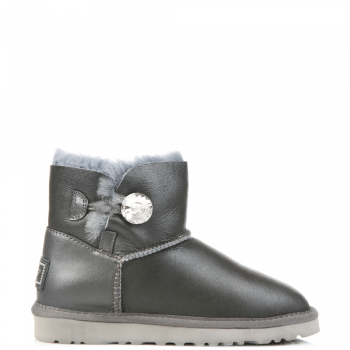 Угги UGG Bailey Bling Mini Leather Grey