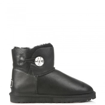 Угги UGG Bailey Bling Mini Leather Black