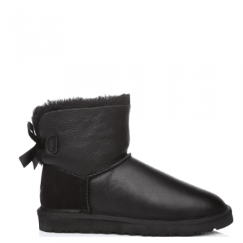 Угги UGG Mini Bailey Bow Leather Black