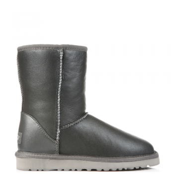 Угги UGG Classic Short Leather Grey