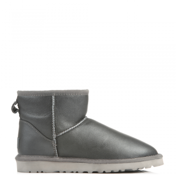 Угги UGG Classic Mini Leather Grey