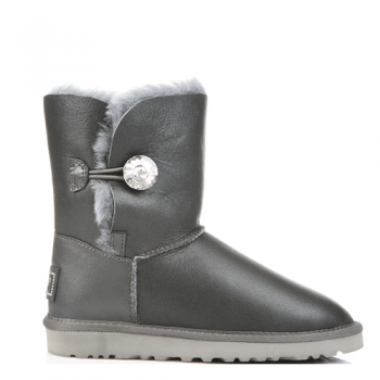 Угги UGG Bailey Bling Leather Grey
