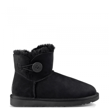 Угги UGG Mini Bailey Button II Black