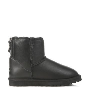 Угги UGG Zip Mini Leather Black
