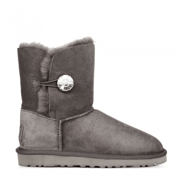 Угги UGG Bailley Button Bling Grey