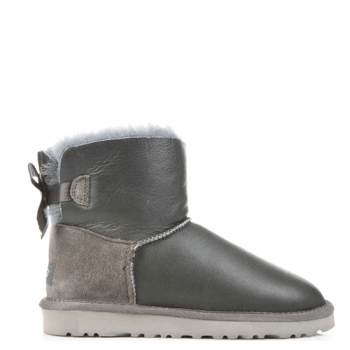 Угги UGG Mini Bailey Bow Leather Grey