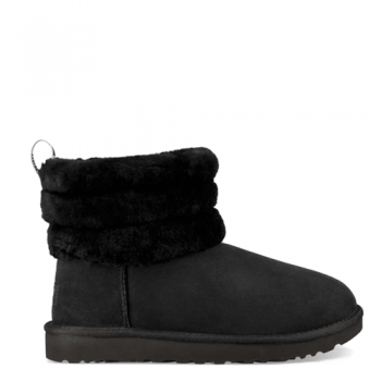 Угги UGG Classic II Mini Fluff Quilted Black