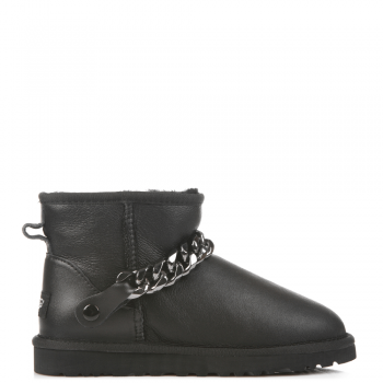 Угги UGG Chain Mini Leather Black
