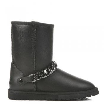 Угги UGG Short Chain Leather Black