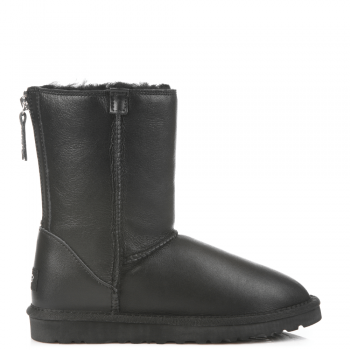 Угги UGG Zip Short Leather Black