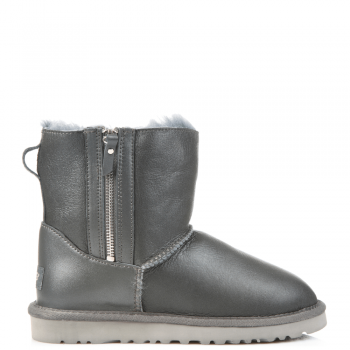 Угги UGG Dubble Zip Leather Grey