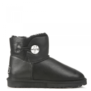 Угги UGG Mini Bailey Bling Leather Black