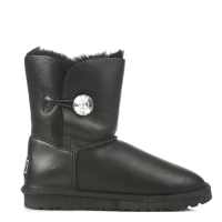 UGG Australia Bailey Button Bling Leather Black