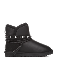 UGG Australia Swarowski Strap Mini Leather Black