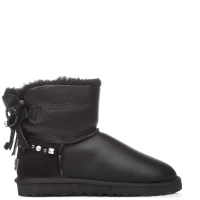 UGG Australia Bailey Bow Mini Leather Black I DO!