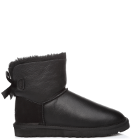 UGG Australia Bailey Bow Mini Leather Black